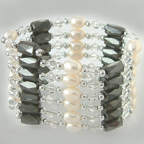 wundersch ne kette silber echte perlen magnete armband oder fusskette kaufen bei. Black Bedroom Furniture Sets. Home Design Ideas