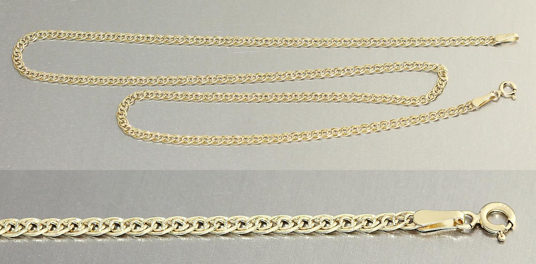 55 cm flache breite goldkette 585 halskette kette gold 585 collier. Black Bedroom Furniture Sets. Home Design Ideas