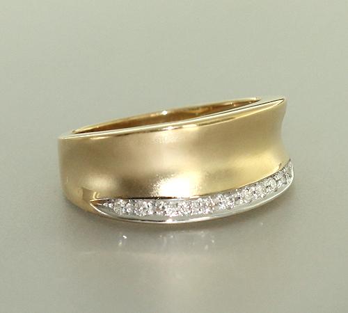 Goldring breit  BREITER GOLDRING 585 - BRILLANTRING - GOLD 585 - RING GOLD ...