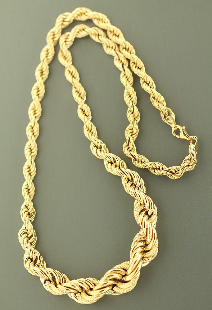 Goldkette  DICKE WALLISKETTE - KETTE GOLD 585 VERLAUFEND - COLLIER ...