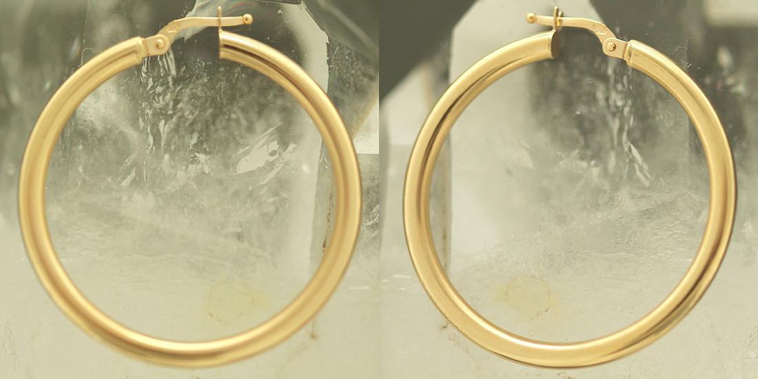 3 6 cm grosse creolen gold 585 ohrringe goldcreolen. Black Bedroom Furniture Sets. Home Design Ideas