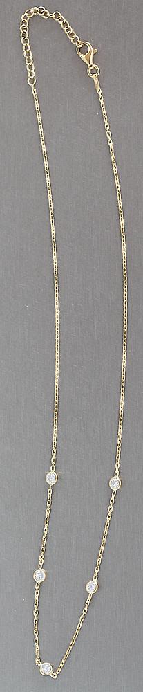 edle silberkette 925 vergoldet mit zirkonias feine massive kette silber 925 gold kaufen bei. Black Bedroom Furniture Sets. Home Design Ideas