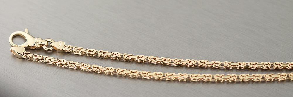 60 cm k nigskette goldkette 585 massiv halskette byzantiner kette gold collier ebay. Black Bedroom Furniture Sets. Home Design Ideas