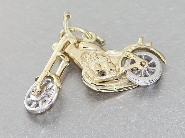 von privat chopper anh nger gold 585 american bike. Black Bedroom Furniture Sets. Home Design Ideas