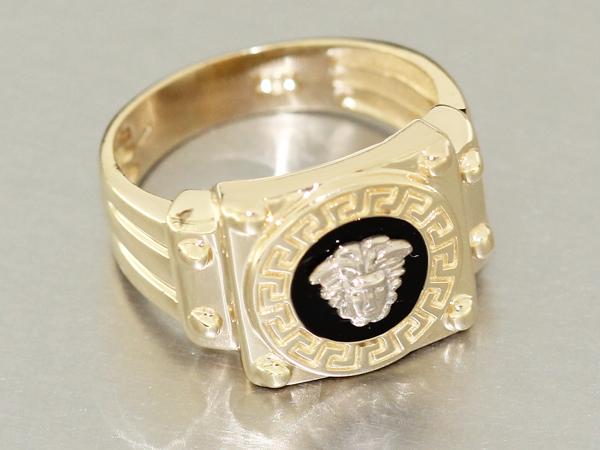 massiver goldring 585 mit m ander muster ring gold 14 kt. Black Bedroom Furniture Sets. Home Design Ideas