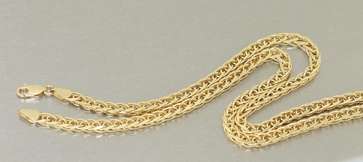60 cm goldkette 585 starke zopfkette 14 gr kette gold halskette geschliffen ebay. Black Bedroom Furniture Sets. Home Design Ideas