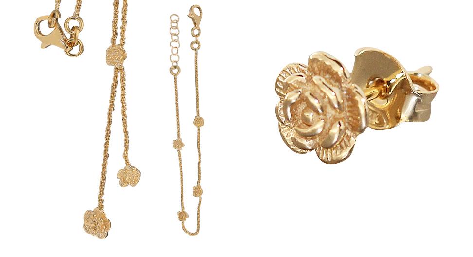 rosen ohrstecker silber 925 vergoldet silberstecker rose gold silberrose kaufen bei. Black Bedroom Furniture Sets. Home Design Ideas