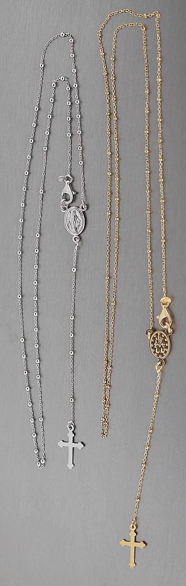 50 cm feine rosenkranz kette silber 925 vergoldet silberkette gold kreuz maria kaufen bei. Black Bedroom Furniture Sets. Home Design Ideas